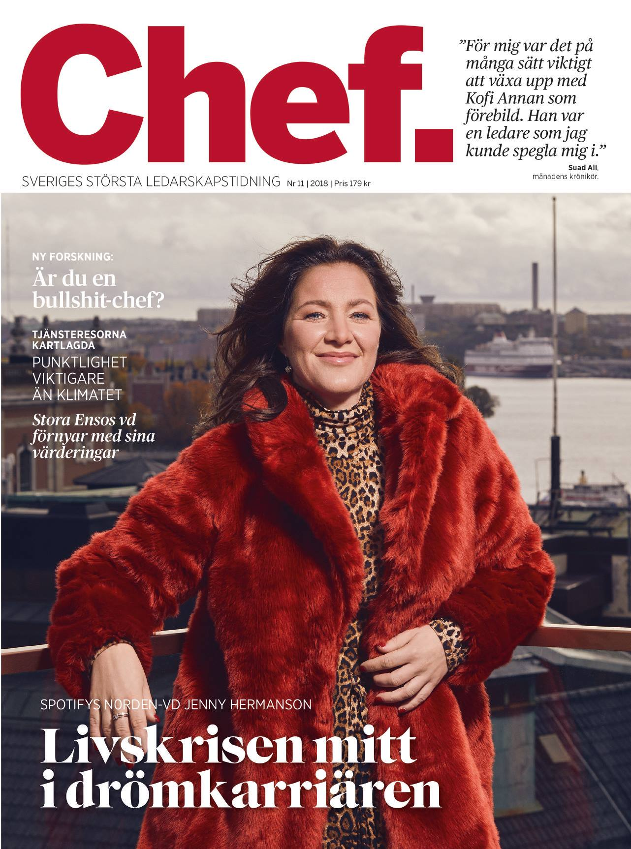 Tidningen Chef feat Spotify Jenny Hermansson